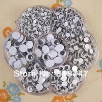 Free shipping Plastic eye 1600pcs/box (mix 7 sizes.) 011027