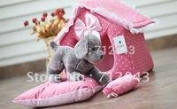 Amazing On Sale+2012 Newest The Japanese Original Single kojima  Lovely Princess Pattern  Winter Warm Dog House,Pink and Blue