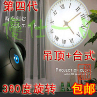Free Shipping Wholesale Retail High quality Projection clock - cold light source projection clock wall clock - ceiling