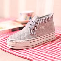 Korean  sports shoes fashion  canvas shoes Plus warm cashmere