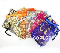 Beautiful and popular gift packing bag/ jewelry pouches/ organza bag + Free Shipping