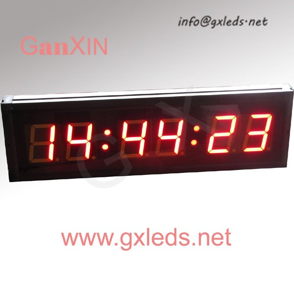 alibaba express 3inch 6digits programable 7 segment digital led clock(China (Mainland))