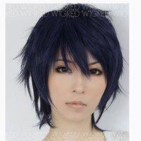 Ao no Exorcist Okumura Rin Dark Blue Cosplay Wig FS L03