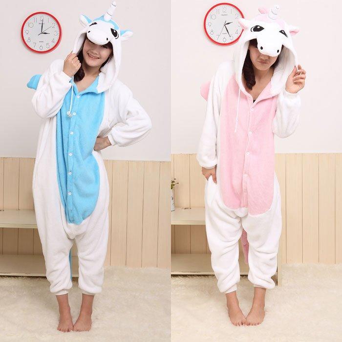 Animal Pajamas KIGURUMI Adult PINK BLUE UNICORN pyjamas sleepwear size S M L XL Unicorn Animal Costume Kigurumi Pajamas Adult Cosplay Sleepwear for Women