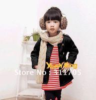 BC31 girls COAT striped lace inverted velvet jacket 4pcs/lot x 5 lots=20pcs