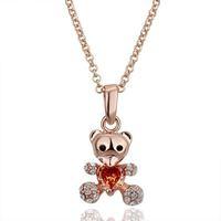 Min Order Is $30 (Mix Order ) Free Shipping The Latest Hotsale 18k RGP Rhinestone Panda Necklace