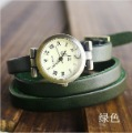 Christmas Gift  2012 New wholesale vintage Genuine Green Cow leather Wrap Women watch ladies wrist watch KOW025  Min order=15usd