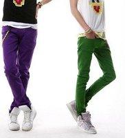 South Korea COOL men skinny pencil jeans pants  / free shipping