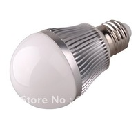 Free shipping by Fedex  3W ,  85-265V golden/silver led globe bulb E27 lamp
