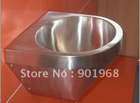 Wall-hung stainless steel bathroom wash room WC oval wash bowl sink basin