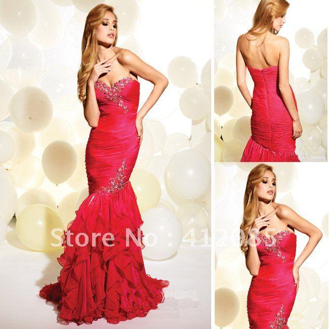 Ruffle Mermaid Prom Dress Ruffled-prom-dresses-2013