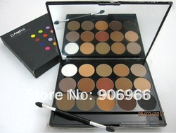 Best selling! Dark blue 15 color eye shadow palette plate trimming eyebrow eyeshadow (Pure Matte) 1Pcs/Lot Free shipping(China (Mainland))