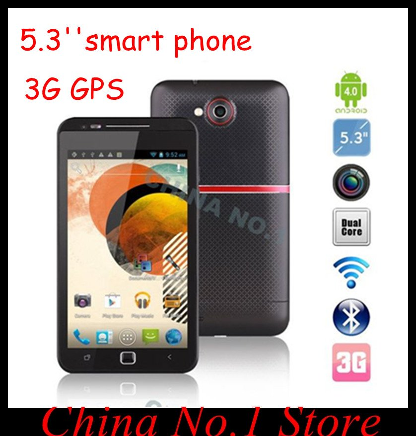 BIG DISCOUNT Android 4.0 smart phone 5.3&#39;&#39; X710D 4G ROM 3G GPS WiFi 8.0MP Camera phone freeshipping(China (Mainland))