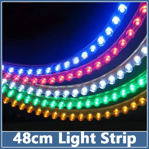 4 X 48 LED SMD 12V Great Wall PVC 48CM Strip Flexible waterproof For Aquarium Fishtank And car decoration Light Bulb Lamp(China (Mainland))