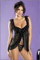 Кружева атласная Тедди 2 цвета черный белый Сексуальное женское белье комплект для женщин нижнее белье lingeries юбки x8490