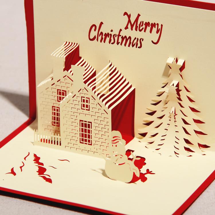 Как сделать на новый год объемные открытки с