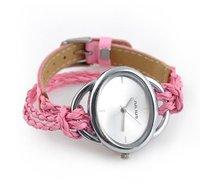 Free shipping 13 colors Hot Korean braid woven bracelet watch