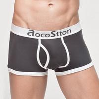 Free shipping Men's underwear Sexy ice ribbon ring men's briefs men's shorts briefs sexy underwear 4pcs