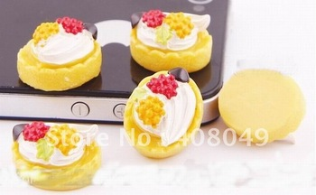 Free shipping,very popular Kawaii adorable flat back resin DIY decorative Handmade Yellow fruit butter cake,1color 30 batch