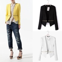 2013 autumn New Short Zipper Blazers Suit Women 8821 Wholesale