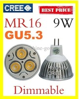 On sales  FREE shipping Dimmable non dimmable  MR16 GU5.3 9W CREE LED Spot Light Bulb Spotlight