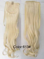 22'' Ribbon Ponytail  synthetic hair extension Long curl  Hair Piece Ponytail Hairpiece 613#