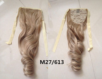 22'' Ribbon Ponytail  synthetic hair extension Long curl  Hair Piece Ponytail Hairpiece 27/613#