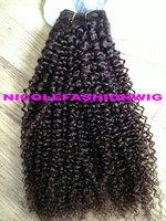 kinky curl human hair weft 100g