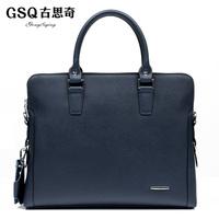 Gsq taste man bag business casual cowhide male boutique shoulder bag messenger bag handbag bag