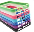 Newest Soft TPU bumper case,TPU bumper With Metal Button case for Apple iphone 5 iphone 5 5G Free shipping 20 pieces