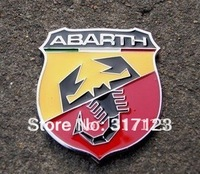 Free shipping (20PCS/LOT)3D Refitting ABARTH With Scorpion Metal Vehicle Decals  Funny Decal On Car  Sticker Chrome Badge Emblem
