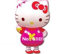 Free shipping 50pcs/lot hello kitty balloon,Walking Pet balloons,cartoon balloons for kids