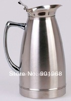 Home hotel bar stainless steel hot or cold keep warm vacuum flask-vacuum thermos-ice  pot-2L