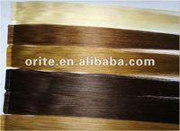 100% Brazilian hair pre-bonded/easy attach/glue/tape hair extension
