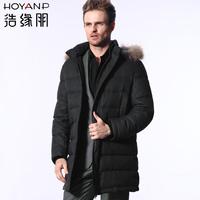 Hoyanp medium-long male hooded down coat men's clothing down coat men's clothing winter