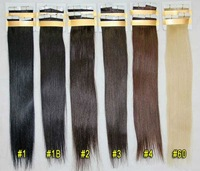 tape hair extension pre-bonded/glue easy attach hair extension