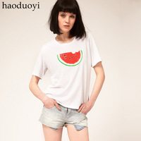 Women's t-shirt with lovely watermelon printed for freeshipping