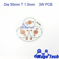 DHL/FEDEX/EMS Free shipping- Dia 50mm T 1.5mm  3W aluminum circular  plate BASE  LED high power  board  PCB