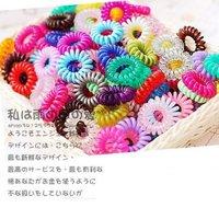 Multi-purpose / telephone line hair circle / multi-color / random hair