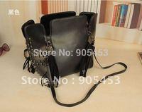 Free Shipping 2014 New Retro Messenger PU Leather Handbag, Skull Tassels Street Fashion Shoulder Bag   Z012 VK1341