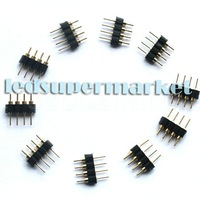 Free Shipping      Male Black 4-Pin Connector for 5050/3528 RGB LED Strip Light