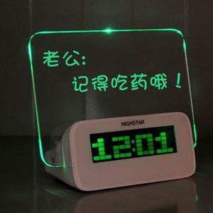 Message board alarm clock ,magic clock ,suspension le mini projection clock, wingover timekeeping bus alarm clock(China (Mainland))