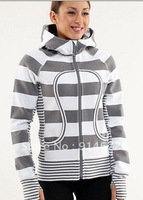 Женские толстовки и Кофты 2012 Best Yoga brand, Lululemon Women Fashion Cotton Hoody Jacket