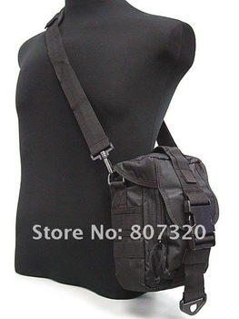 Molle Airsoft Shoulder Pack Bag Tools Mag Drop Pouch BK free ship