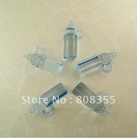 Free shipping-Wholesale 500pcs Mini Acrylic Clear Blue Baby bottles Baby Shower Favors~Cute Charms ~Party Decorations