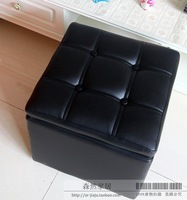 Bar Stool Feet Rest PU Stool with Storage Function