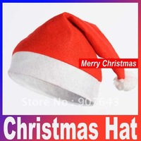 Christmas  x'mas Hat Red fashion Santa  xmas Hat Cheaper christmas headwear Free Shipping