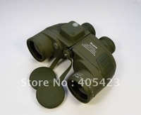 H Q!10*50  Binoculars Telescope,Waterproof & Night Vision Navy BINOCULARS With RANGEFINDER and Compass RETICLE illuminant