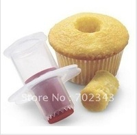 New 2pcs/lot Cupcake Muffin Corer Cake Decorating Pastry Tool Divider Mold Free Shipping