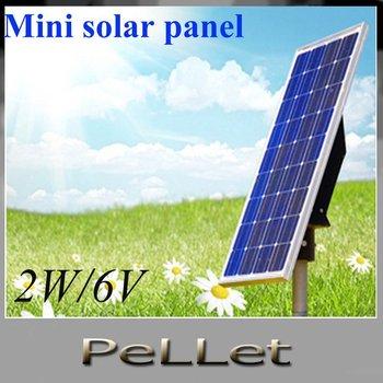 Mini solar module,mini solar panel solar kit 2W/6V    10pcs
